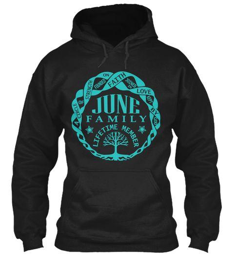 June Family Shirt Name Black Sweatshirt Front