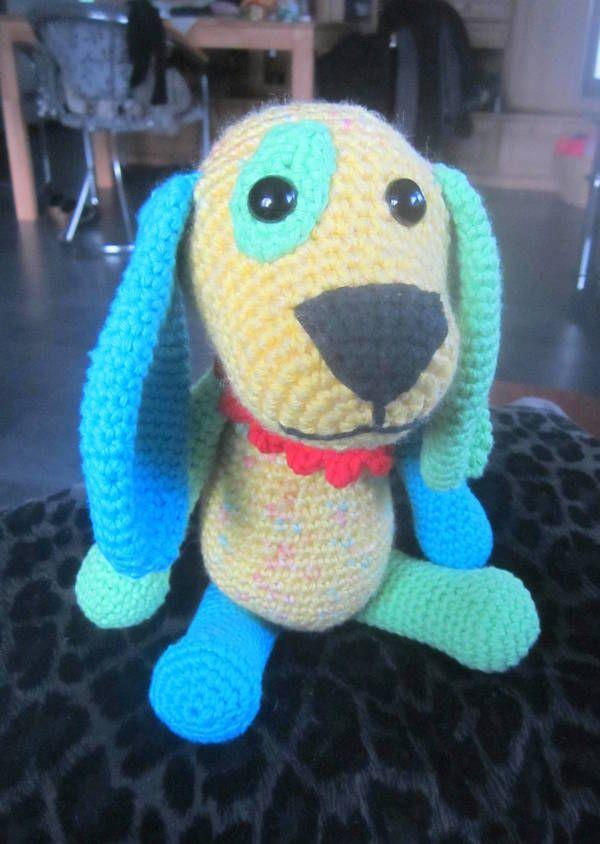 Häkelanleitung für Lumpi, den bunten Hund | Häkeln u. Stricken und ...