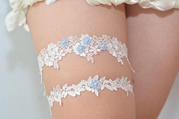 something blue bridal garter wedding garter bride by annabrides