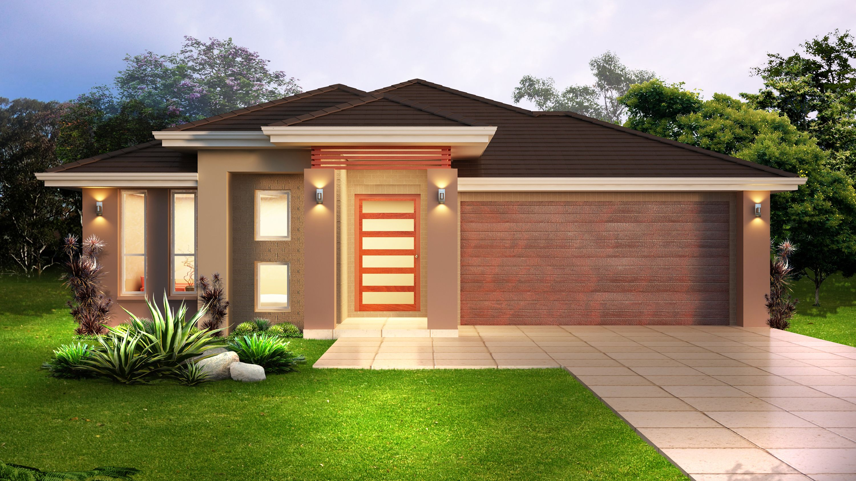 Single storey house design the lorenzo 220 sq m 11 75m x 23 15m jam packed with contemporary features this 3 bedroom house features 3 robes