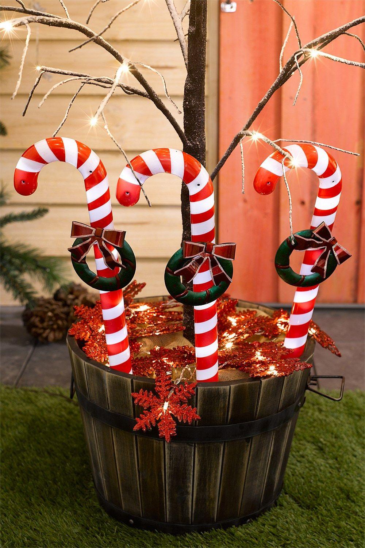 EziBuy Christmas Shop Solar Candy Cane Lights EziBuy