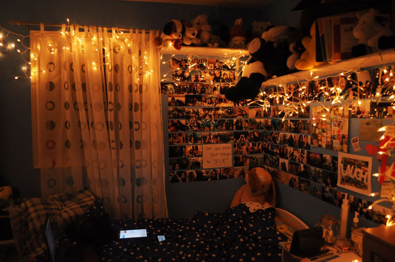 Tumblr rooms with lights - 1000 Images About Bedroom On Pinterest