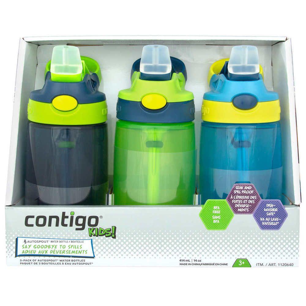 2f0a6239c2 BPA-FREE Contigo Kids Autospout Water Bottles Spill Proof , 3-PACK #Contigo