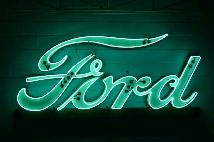 Ford Neon Vintage Neon Signs Neon Signs Ford Girl
