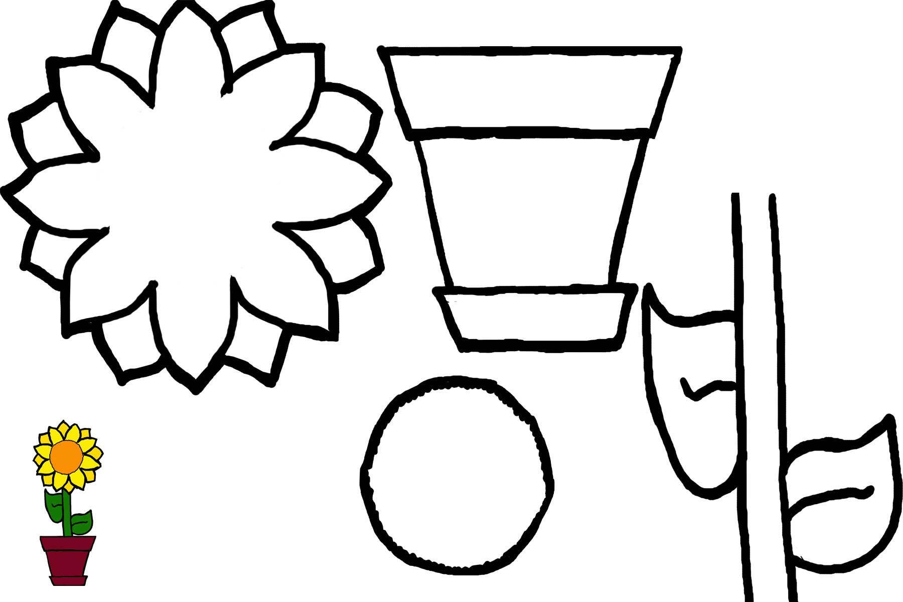 Toddler Flower Worksheet