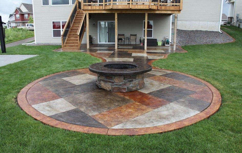 Creative of concrete patio ideas on a budget concrete