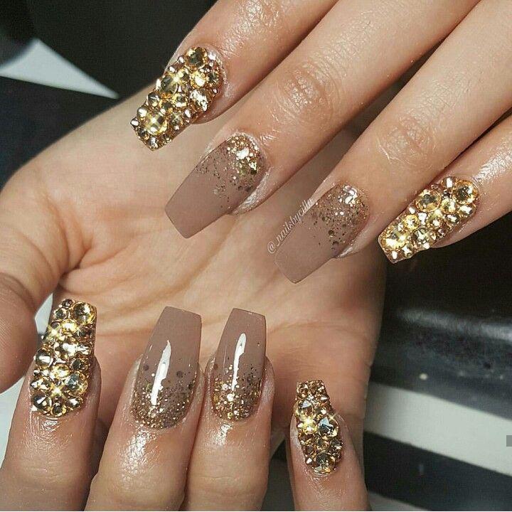 Beige Nail Enamel with Glitter Sprinkles | Nails | Pinterest | Beige ...