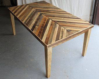 Items Similar To Reclaimed Chevron Herringbone Pallet Barnwood Side Entry Way Foyer Loft Console Coffee Sofa Table