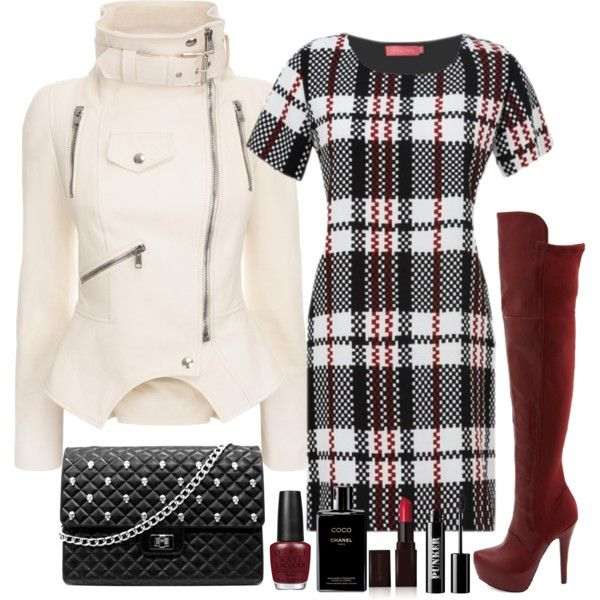 """""""Winter Plaid"""" by rko4eve on Polyvore"""