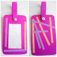 Washi-embellished Homemade Bag Tags!  Fun to make! = )