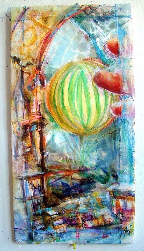 Silk Painting by Mari Gyorgyey