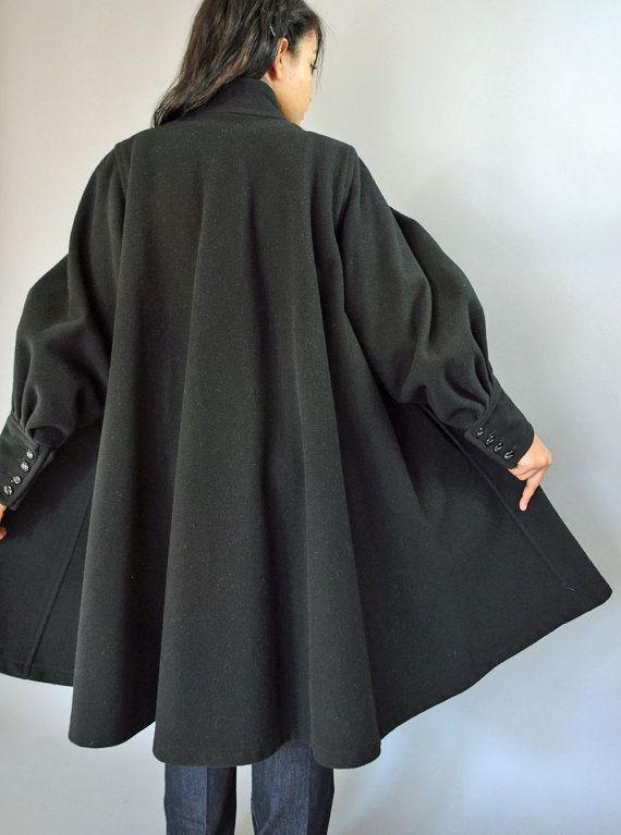 Plus Size Swing Coats Wool. Winter Wool Blend Double ...