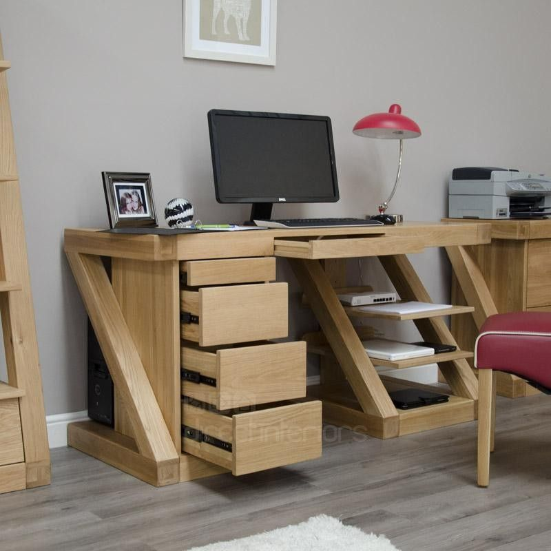 Homestyle Gb Z Oak Designer Desk Large Online By Furniture From Cfs Uk At Unbeatable Price