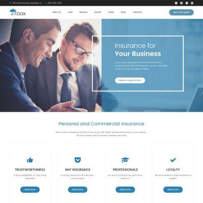 Roox Insurance Wordpress Theme Web Design Webdesign Design