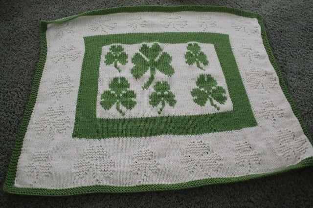 Shamrock Baby Blanket Someday Pinterest Blanket Knitting