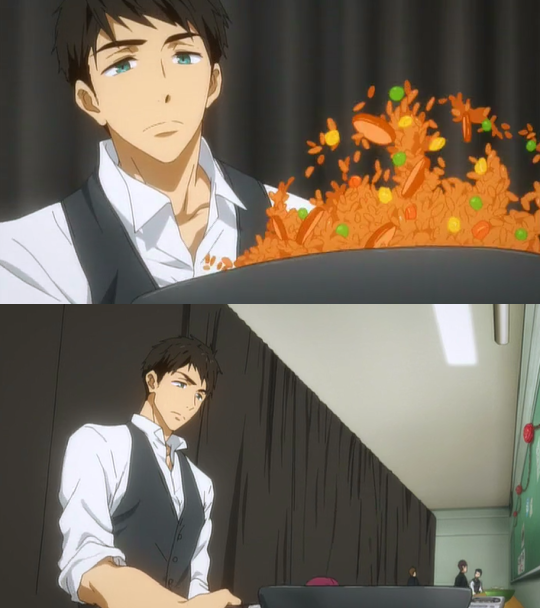 Sousuke needs to stop looking so hot!     From the extra episode for