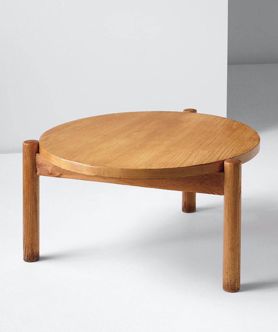 Charlotte Perriand; Pine Coffee Table From 'L'Equipement