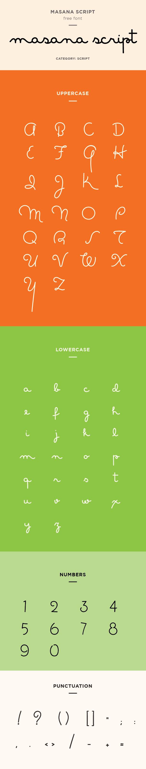 Masana script font — click here for free download.