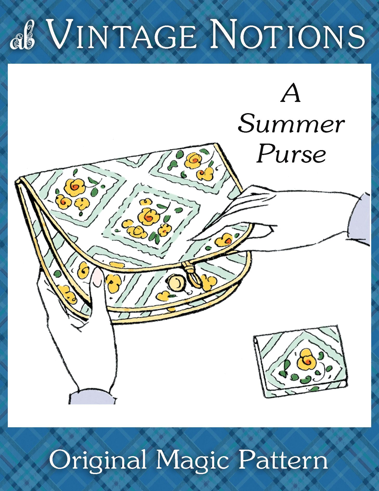 Vintage Notions Summer Purse INSTANT DOWNLOAD | Amybarickman.com