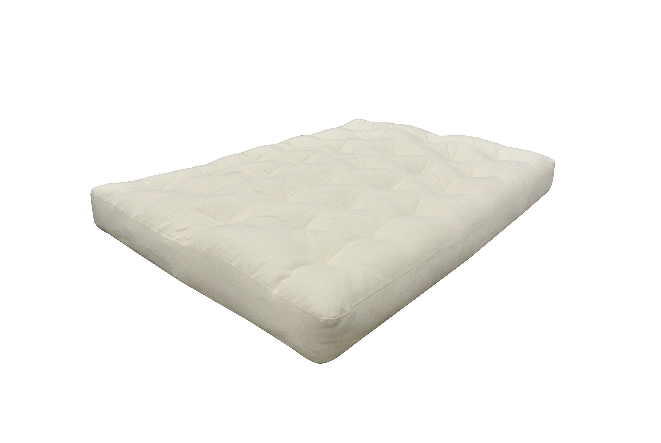 Gold Bond 0293000120 Organic Cotton Wool Futon Mattress Twin Xlarge 5 Natural