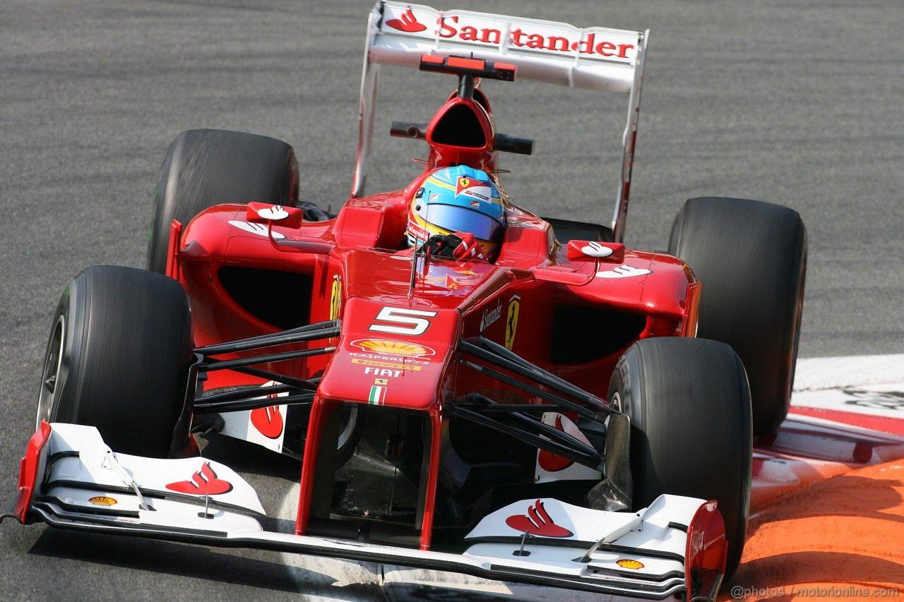 GP ITALIA - Fernando Alonso per le Prove Libere