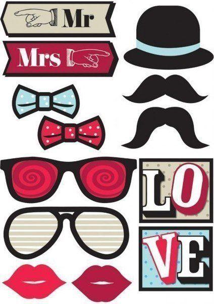 Усы, губы, маски из бумаги. Шаблоны для вечеринки - Ёжка ...