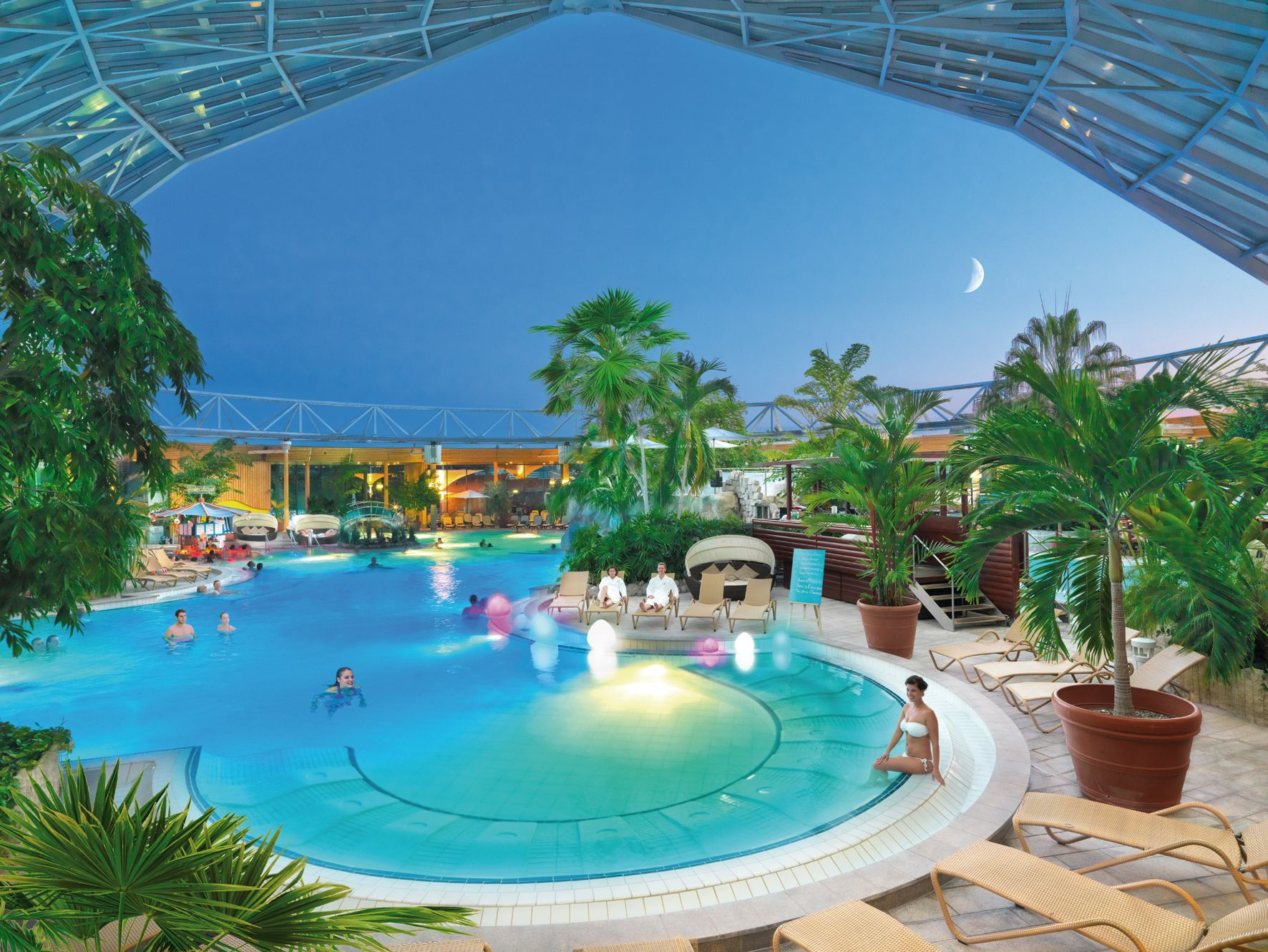 Therme Erding Water Park Spa Water Large Glass Dome