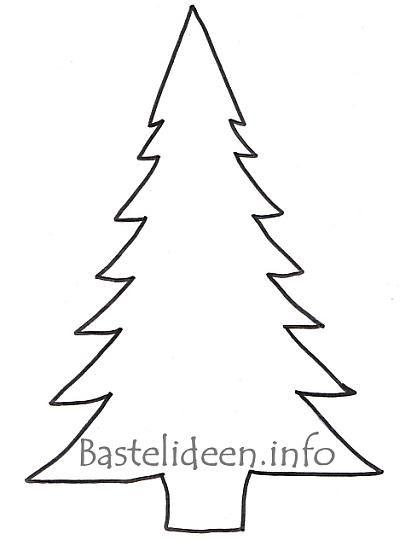 Christmas Tree Template To Print Weihnachten 12