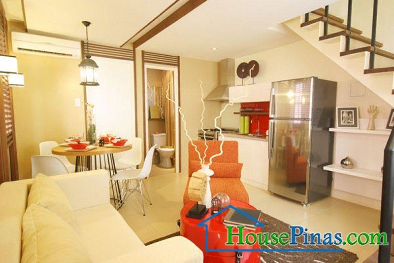 White Brown Orange Model Homes Small House Interior Small