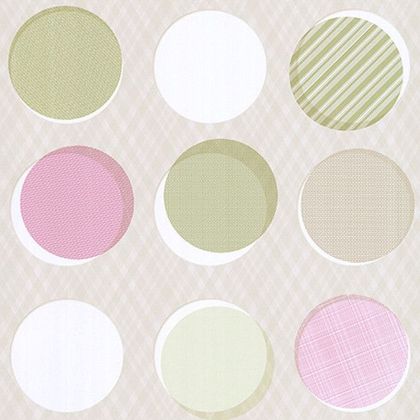 Button Wallpaper Beige byTres Tintas