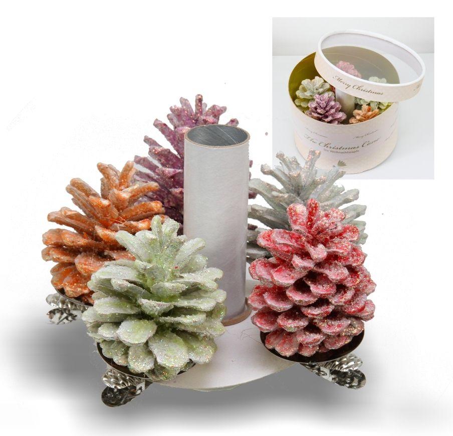 Weihnachtszapfen Sortiment 5-fach - Box #deko #natur #dekoration ...