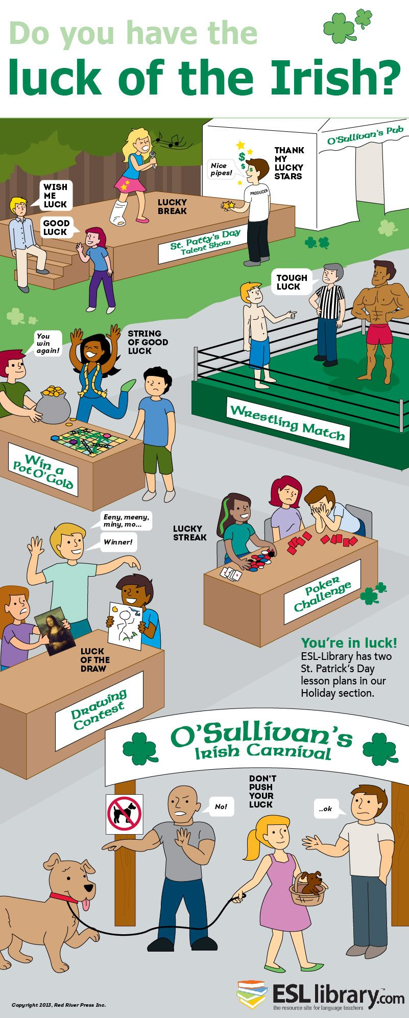 ESL-Library St. Patrick's Day Idioms Poster