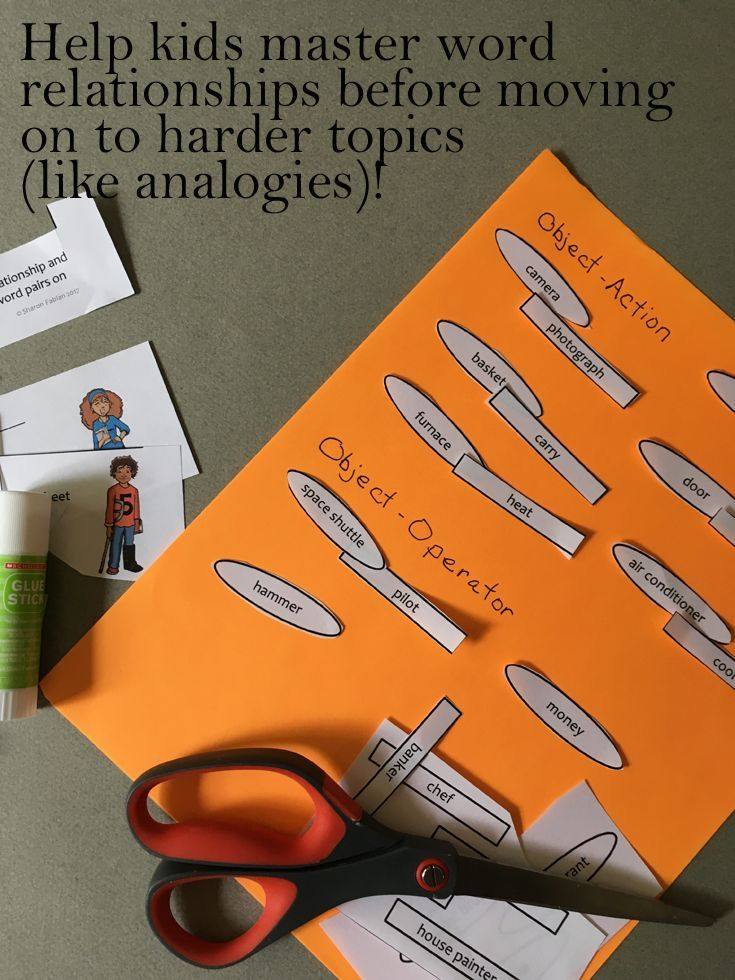 Activity Sheets Helps Kids Use Word Relationships To Acquire And Use
