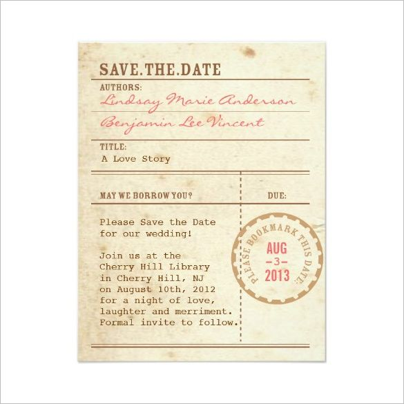 Image Result For Invitation That Looks Like A Book Library Card Wedding Invitations Save The Date Invitations Save The Date