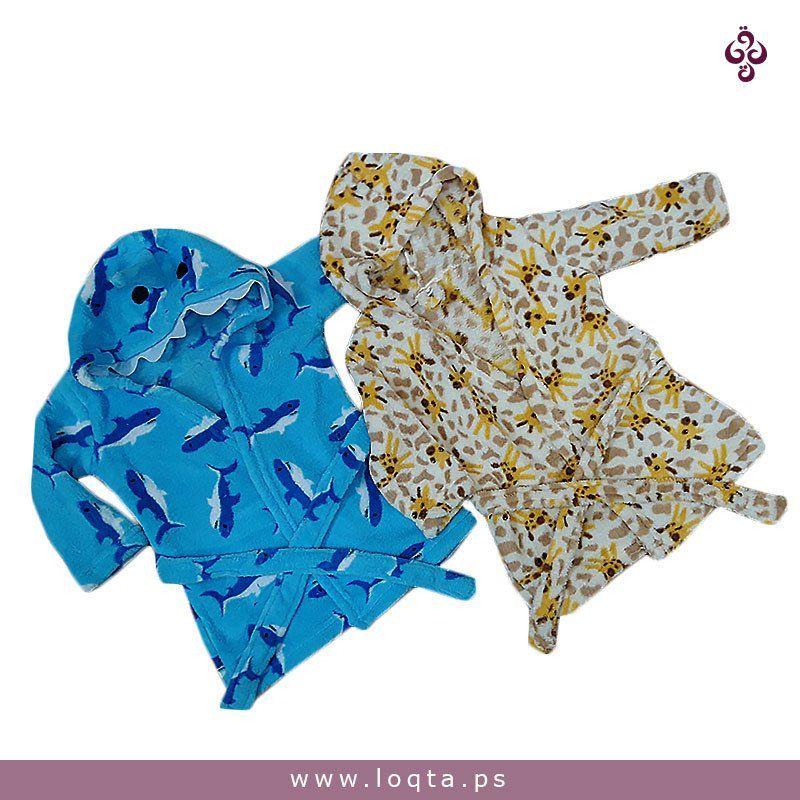 روب شتوي أطفال 3 5 سنوات Loqta Ps Warm Winter Blue Yellow Blue