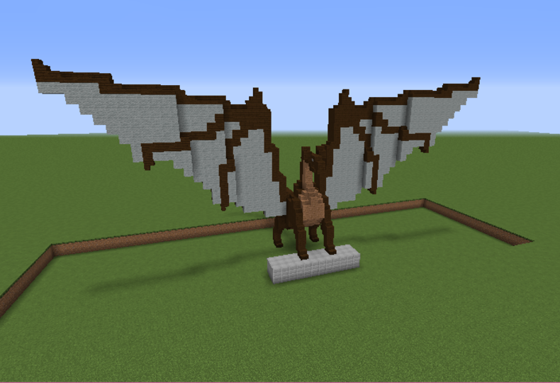 Dragon Statue 2 - GrabCraft - Your number one source for MineCraft ...