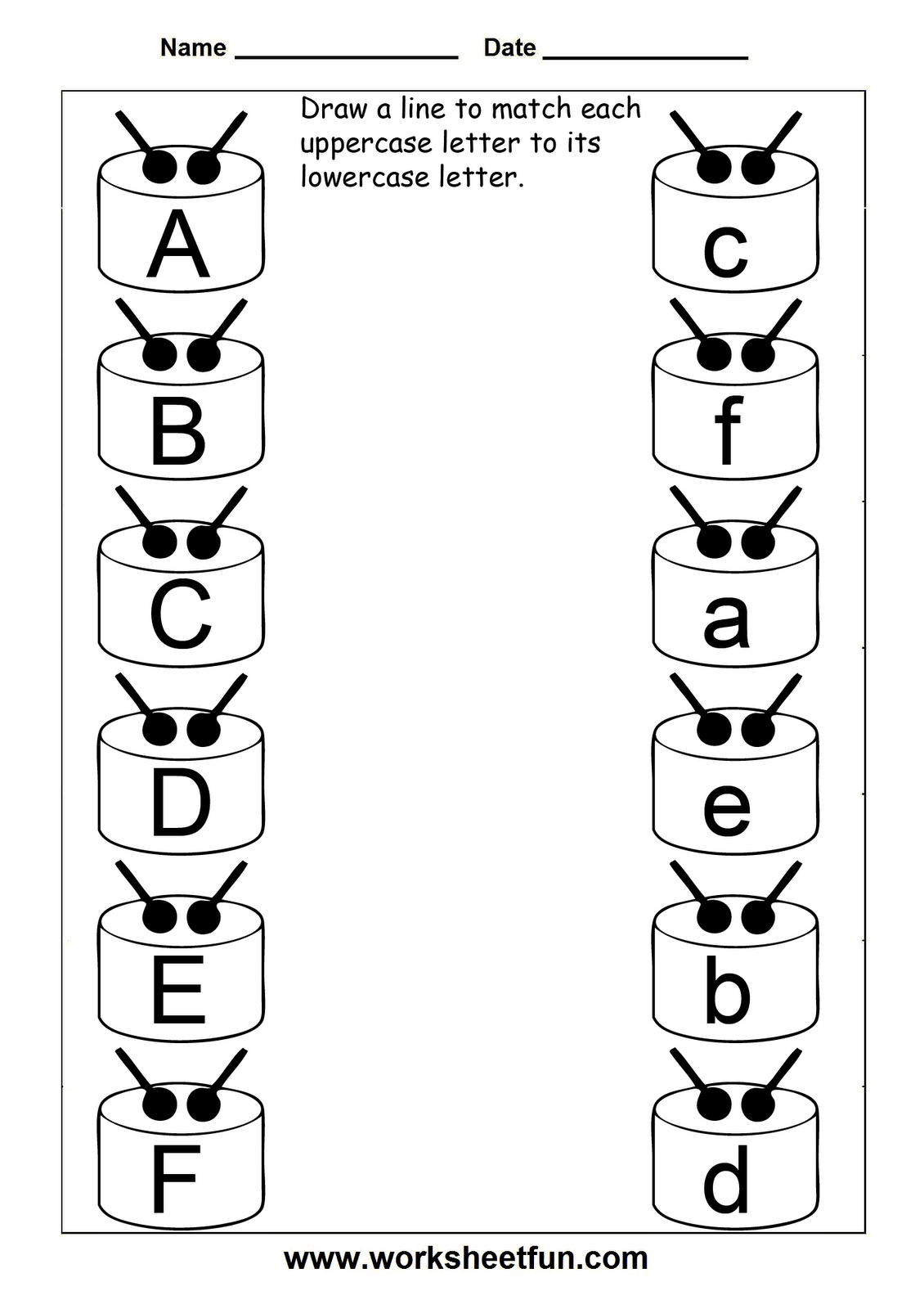 photo regarding Free Printable Uppercase and Lowercase Letters Worksheets called 8 Least complicated Photos Of Uppercase And Lowercase Letters Printable