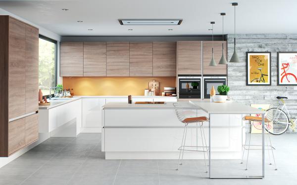 20 Sleek Kitchen Designs With A, Sleek Kitchen Cabinets Design