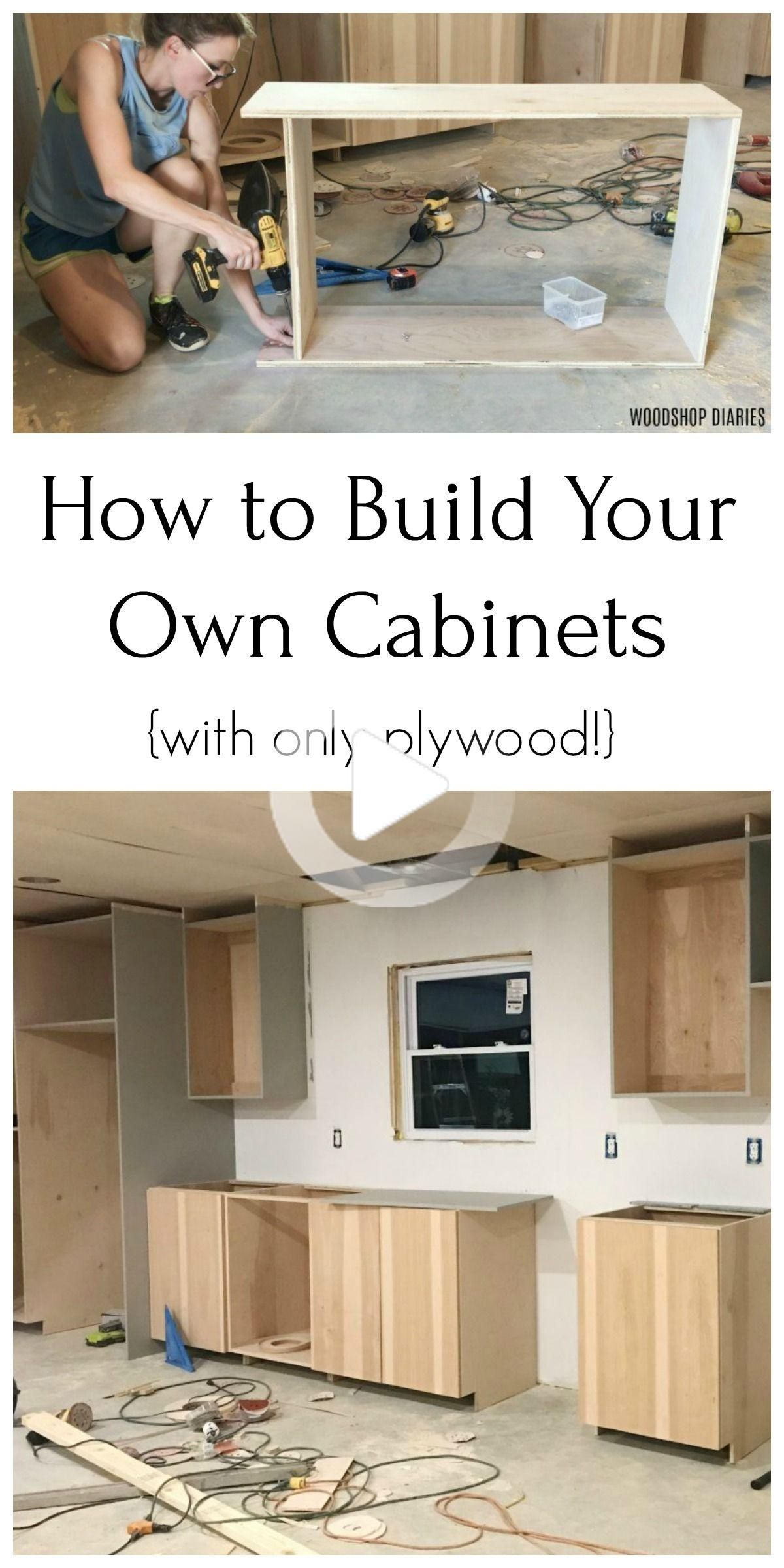 Bricolaje Muebles De Cocina Elaborados Unicamente A Partir De Madera Contrachapada In 2020 Building Kitchen Cabinets Diy Kitchen Cabinets Build Diy Kitchen