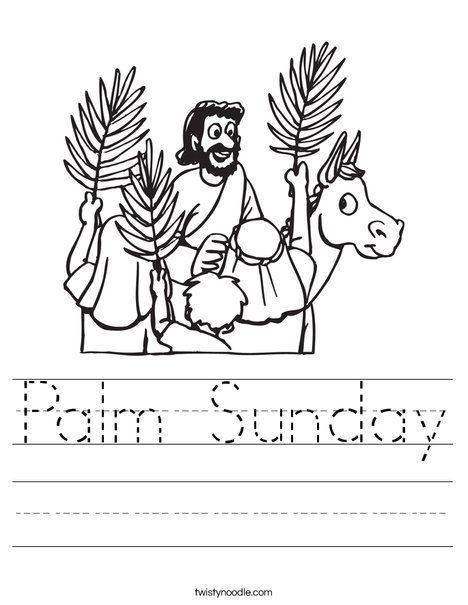 Palm Sunday Worksheet from TwistyNoodle.com | Coloring | Pinterest ...