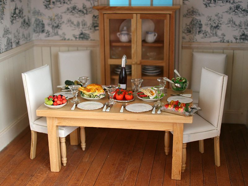 Dolls House Dining Room Summer Buffet From The Wonham Collection Thewonhamcollectionco