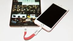 Imagine charging your iPhone from another device. Lol I don't know why but at the same time it's kinda pointing fun at, in this case, a Galaxy.   http://www.cultofmac.com/398796/this-dongle-lets-you-charge-your-iphone-from-your-android-device/