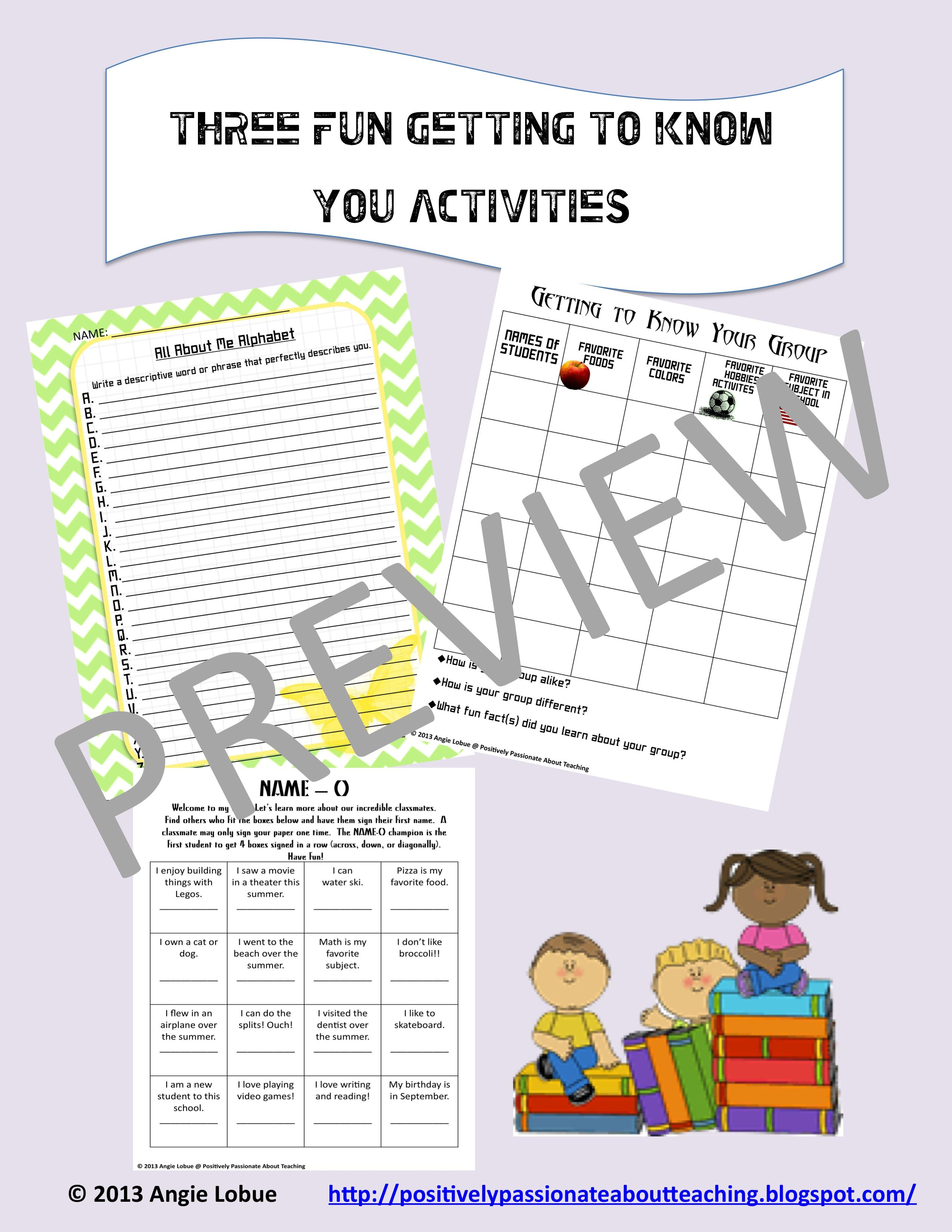 Getting To Know Your Students Quickly At The Beginning Of