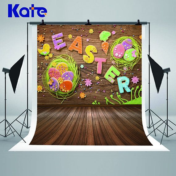 Easter Decoration Retro Wood Wall Photography Backdrops Easter - halloween backdrop