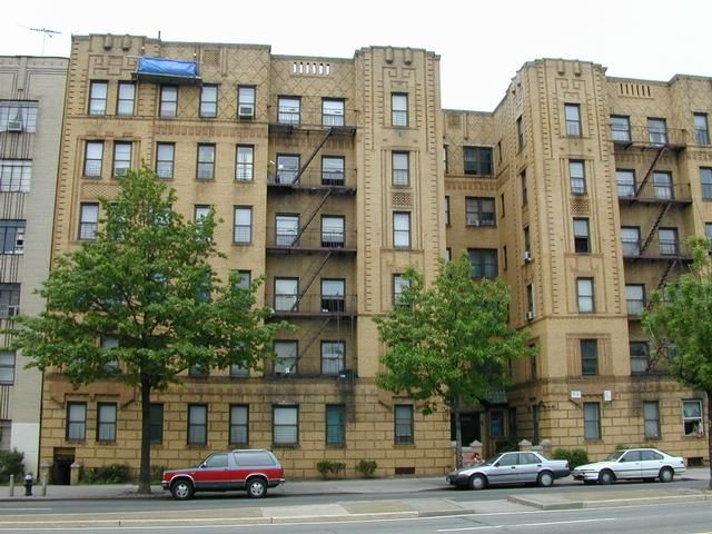 Art Deco apartment building Grand Concourse and 182nd Street The