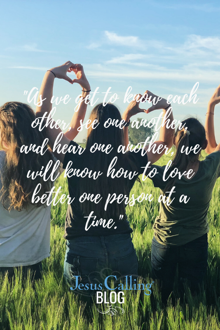 We may have to look more carefully, expand our worldview, open our ears and homes and hearts, but we can empathize with someone else, regardless of our differences. #friendship #JesusCalling #empathy #loveyourneighbor #friends