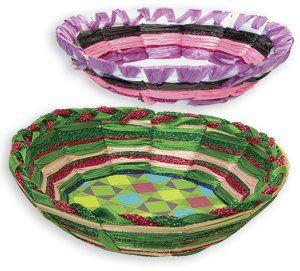 Easy Weave Baskets for children Website full of Easy Art Craft Activities | Primary School Activities | Easter activities for children/students | Teacher Art Craft Lesson Plans | Australian School Teacher Education Resources
