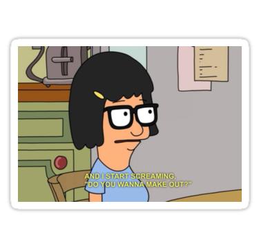 'Tina Talks' Sticker by genderfvcked