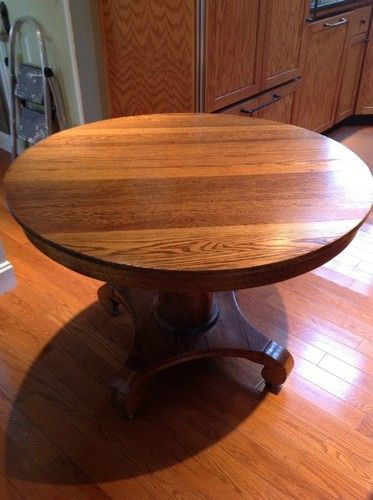Antique Round Oak Dining Table 42 Round Oak Dining Table