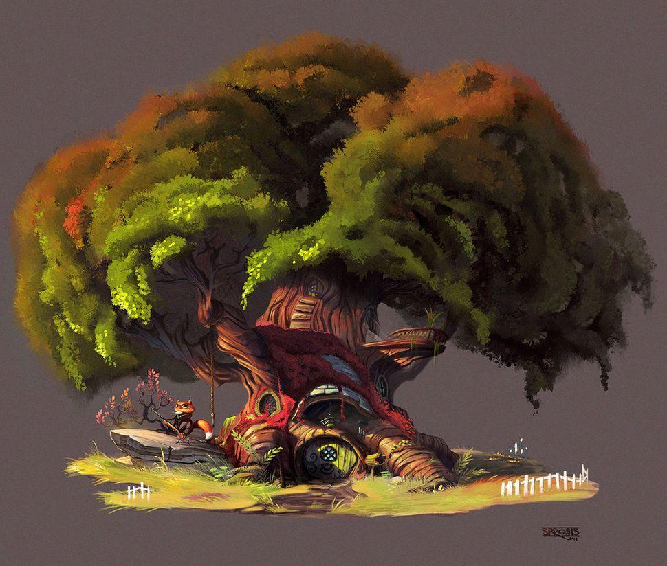 Tree House Study By Sprogis7 On Deviantart Macro